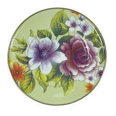 MacKenzie-Childs Flower Market Enamel Salad/Dessert Plate - Green