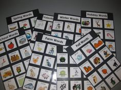 Thematic word lists - great for a writing center!