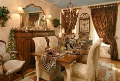 Traditional romantic dining room