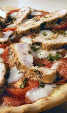 Gluten Free Chicken Margherita Pizza