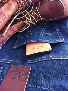 David & Son leather goods, Eat Dust denim, Redwing 877 boots