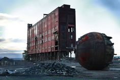 It Looks Like The Apocalypse Pics) Paper Mill, By Any Means Necessary, Industrial Photography, Waterfront Property, Post Apocalypse, Filming Locations, Beautiful Buildings, Abandoned Places, Abandoned Buildings