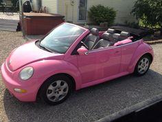 Pink Convertible Volkswagen Beetle (mine)