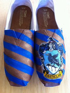 As much as I'm determined to never pay $60 or more for a pair of shoes...I could be convinced to fork over the cash for these. Ravenclaw, baby!