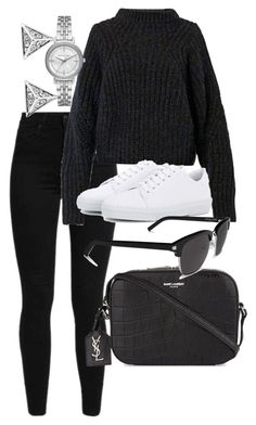 """""""Untitled #5124"""" by olivia-mr ❤ liked on Polyvore featuring Levi's, Isabel Marant, A.P.C., Yves Saint Laurent, Michael Kors and Buckley"""