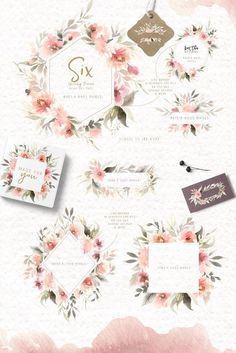 Unruly Watercolor Flowers Set by Kim Thoa Designs on @creativemarket #watercolor #flowers #floral #nature #ideas #inspiration #digitalart