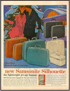 I still have my red/pink Samsonite luggage set that my parents gave me for high school graduation