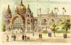 Exposition Universelle 1900. Le Palais des Mines et Métallurgie.