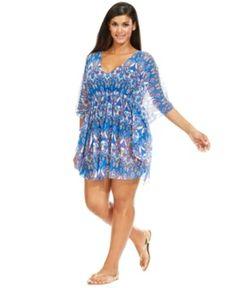 0d6e0c222a64e Becca Etc Plus Size Mesh Exotic-Print Cover Up Women s Swimsuit