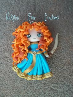 Merida from brave fimo clay