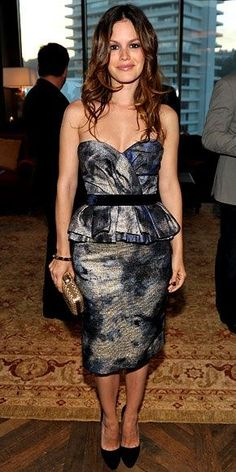 Rachel Bilson in Peter Som Fall 2010 dress, Brian Atwood heels, and Ferragamo clutch, June 2010