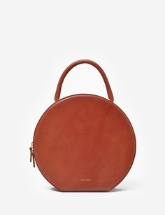 Mansur Gavriel leather circle bag at Bird : ShopBird.com