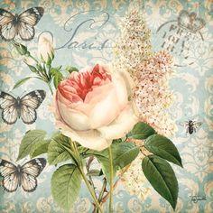 RB5071TS <br> Vintage Floral Damask I <br> 18x18