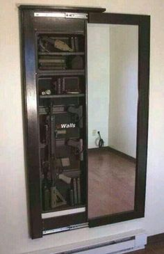 Great way to hide some storage behind a mirror