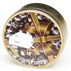 Coffee Flavoured Travel Sweets Ribbon Gift Tin – Traditional Sweets Coffee Candy, Natural Coffee, Tin Gifts, Favorite Candy, Old Recipes, Candy Cane, Ribbon, Nutrition, Sweets