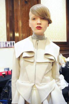 MASHA MA, AW11: backstage photo, kinda-creepy-photo, jacketjacketjacket. #masha_ma #outerwear #fashion