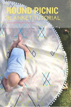 Oh my - I love this so much. Tash's tutorial is good enough that even a complete craft-numpty like me can follow it. I just need to find some beautiful fabric!  Round Picnic Blanket Tutorial