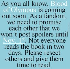 Please respect other readers and refrain from pinning/ posting any BoO spoilers! This is the last time we get to read about their adventures for the first time. Don't spoil it for others. Wait until November first to pin anything about it please!