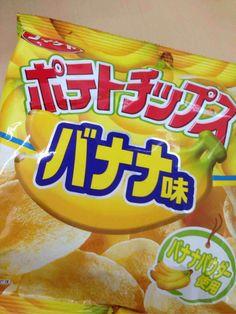 Japanese Potato Chips, banana flavour