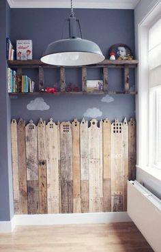 Kidsroom beautifull wooden city
