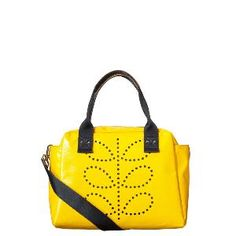 #OrlaKiely Etc Punched Stem Tarpaulin Zip Top / Crossbody Secure Handbag