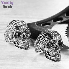 Anel Vazado Skull  Rico em Detalhes  Material Inox  Loja Online: www.vanityrock.com.br