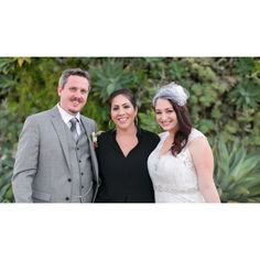 Elena with clients Adam and Jackie at their Smog Shoppe wedding. Photo by Shannon Lee Images.