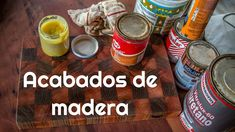 Acabados de madera Coffee Cans, Chalk Paint, Canning, Youtube, Videos, Furniture Design, Wood Finishing, Recycling, Diy