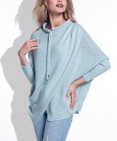 Look at this #zulilyfind! Pistachio Crossover Sweater #zulilyfinds