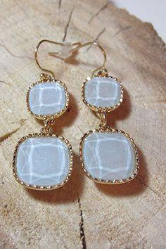 Double Periwinkle Blue Earrings