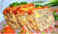 Meat loaf with cheese
