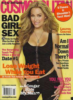 cosmopolitan magazine covers   ... Lauren Conrad is the cover girl for November's Cosmo Magazine