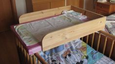 Taly's Creations: DIY Crib Top Changing Table. A great idea! Saves so much space and is so easy to make.