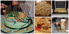 Festa a tema: Il Signore degli Anelli....The Lord of the Rings party..cake, decorations, food, invitation, gift