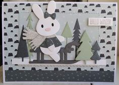 Annemarie en Merit : 52 weeks to christmas week 17 Hallo Winter. Baby Bunnies, Bunny, 52 Weeks, Marianne Design, Easter, Kids Rugs, Christmas, Cards, Blog