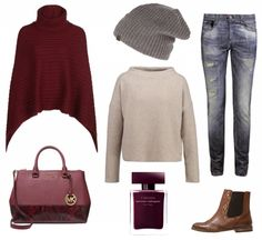 #Herbstoutfit Red ♥ #outfit #Damenoutfit #outfitdestages #dresslove