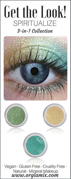 A color-coordinated eye shadow trio. These expertly coordinated shades take the guesswork out of getting started with pure and natural mineral eye colors so you can achieve effortless eye looks in seconds. Awe-inspiring eyes. Get a gorgeous gaze with the perfect high-payoff combination of brilliant color, an easy-blending formula, and endless versatility that will revolutionize your eye-makeup outlook and deliver stunning effects.