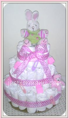 Diaper cake bunny