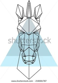 geometric unicorn head - Google Search