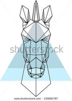 geometric unicorn head - Google Search