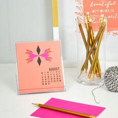 Laser Cut 2015 Desk Calendar