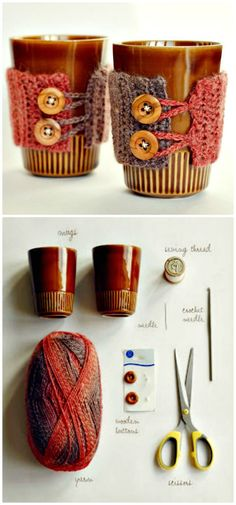 Free Crochet Coffee Mug Cozy Pattern - 74 Free Crochet Cozy Patterns Just Waiting for You to Make - DIY & Crafts