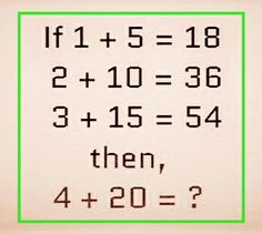 Can you solve the math riddles