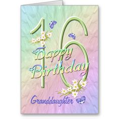 Shop Granddaughter Birthday Butterfly Garden Card created by anuradesignstudio. Personalize it with photos & text or purchase as is! 19th Birthday, Teen Birthday, Birthday Quotes, Birthday Wishes, Birthday Cards, Happy Birthday, Humor Birthday, Husband Birthday, Birthday Messages