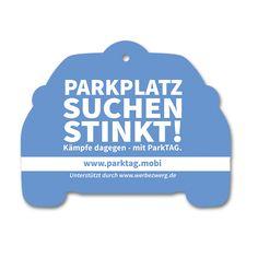 Dfutbaum, Duftanhänger, Lufterfrischer für die Parkplatz-App www.parktag.mobi