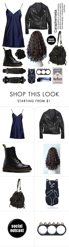 """🖤🖤🖤"" by emo-narwhalz ❤ liked on Polyvore featuring Cesare Paciotti, Relaxfeel, Dr. Martens, Yellow Jacket, RIPNDIP and Bling Deenie"