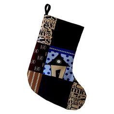 E by Design Merry Coastal Christmas Printed Christmas Stocking - STGN664BL1RE6