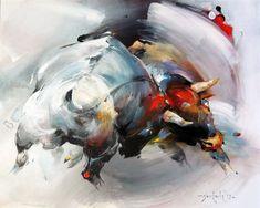 Braca Djurkovic - Painter - Official Website - Oil on Canvas Bull Painting, Buffalo Art, Arabian Art, Motif Floral, Equine Art, Horse Art, Watercolor Landscape, Animal Paintings, Art World