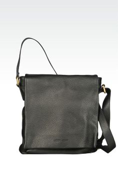 57f917d0a7ed Men Messenger Bag Giorgio Armani MESSENGER BAG IN TUMBLED LEATHER - Official  Online Store