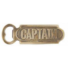 """Solid Brass Captain Bottle Opener 5"""""""